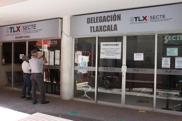 Covid-19 obliga al cierre de oficinas de Secte y Finanzas en Tlaxcala