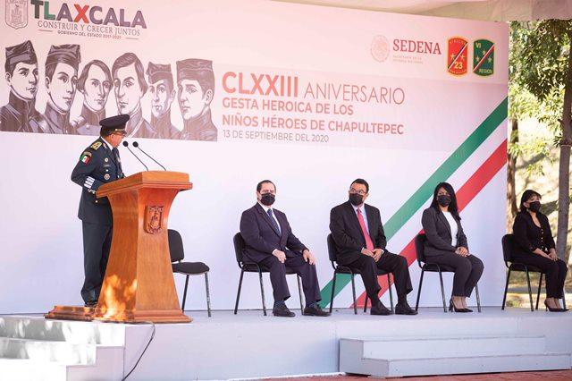 Autoridades recuerdan gesta heroica de los Niños Héroes de Chapultepec