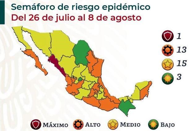 Tlaxcala pasa del color verde al amarillo en el semáforo de riesgo