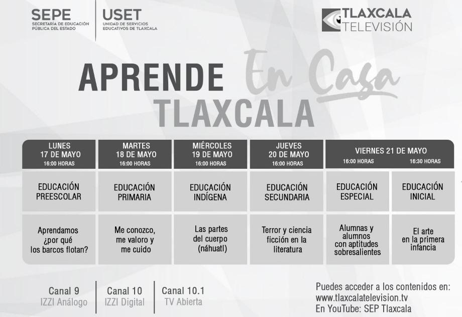 """Sepe presenta barra temática de """"Aprende en Casa Tlaxcala"""""""