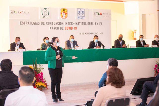 Presentan estrategia de contención Covid-19 a sindicatos del IMSS e ISSSTE