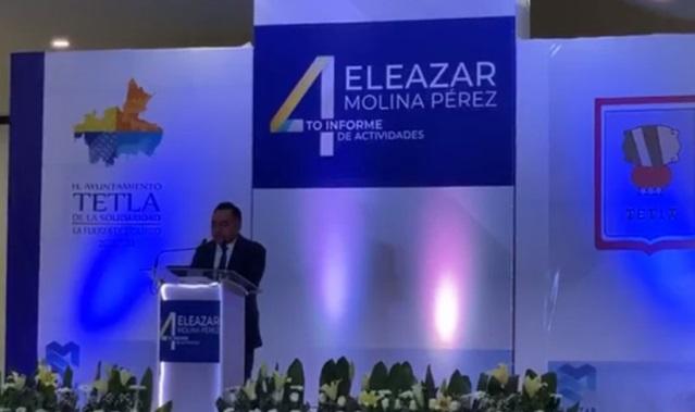 Eleazar Molina rinde su Cuarto Informe; se ejecutaron más 47 mdp en obra