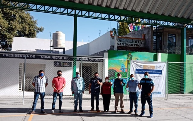 Inauguró Giovanni Pérez la presidencia de comunidad de San Juan