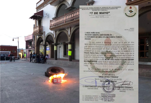 Alcalde trácala de Contla deja basificados a dos de sus achichincles