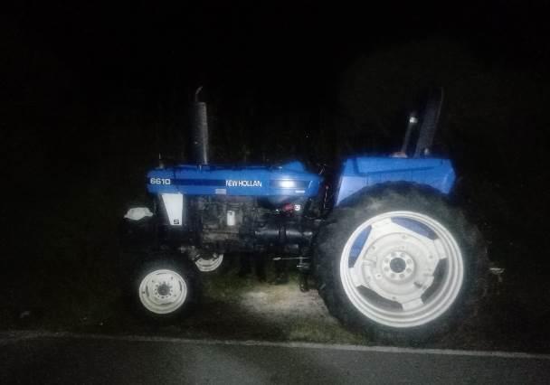 Recupera policía de Huamantla un tractor con reporte de robo vigente.