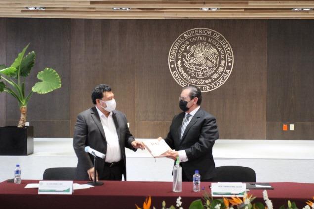 Firman TSJE y Saetlax convenio para promover la anticorrupción