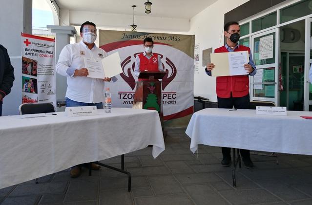 Tzompantepec se suma al apoyo de la Cruz Roja: Rivera