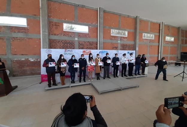 """Ponen en marcha en Tzompantepec el """"Botón Rosa"""" para protección femenina"""