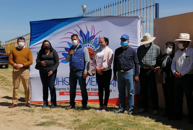 Villarreal Chairez arranca destacadas obras en comunidad de Atlihuetzian