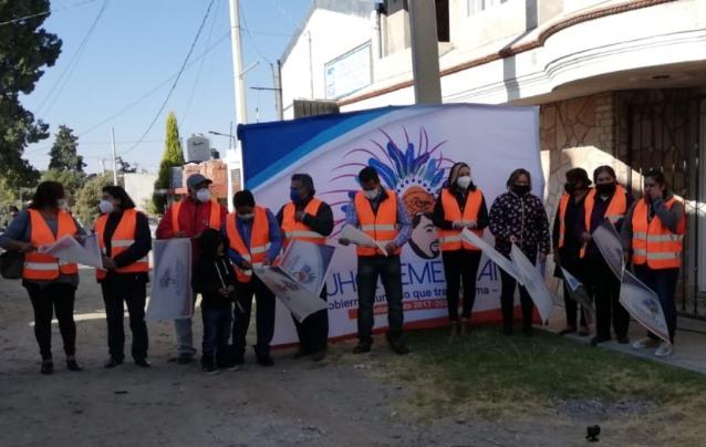 Villarreal sigue impulsando obra pública; inicia pavimento en Huacaltzingo