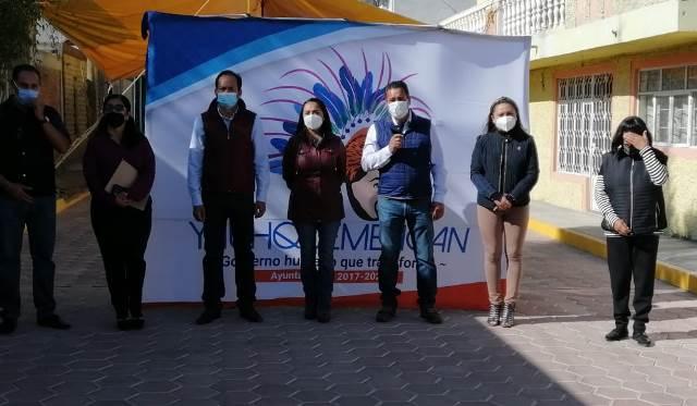 Villarreal Chairez inaugura obra en la privada Tlaxco de San Benito