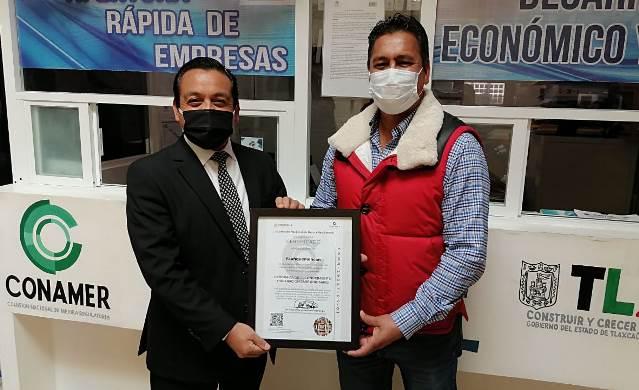Recibe Yauhquemehcan  certificación para apertura rápida de empresas
