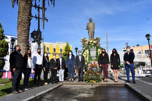Realizan guardia por 132 Aniversario del natalicio del General Domingo Arenas en Zacatelco