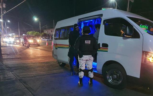Policía de Zacatelco continua con el Operativo Pasajero Seguro