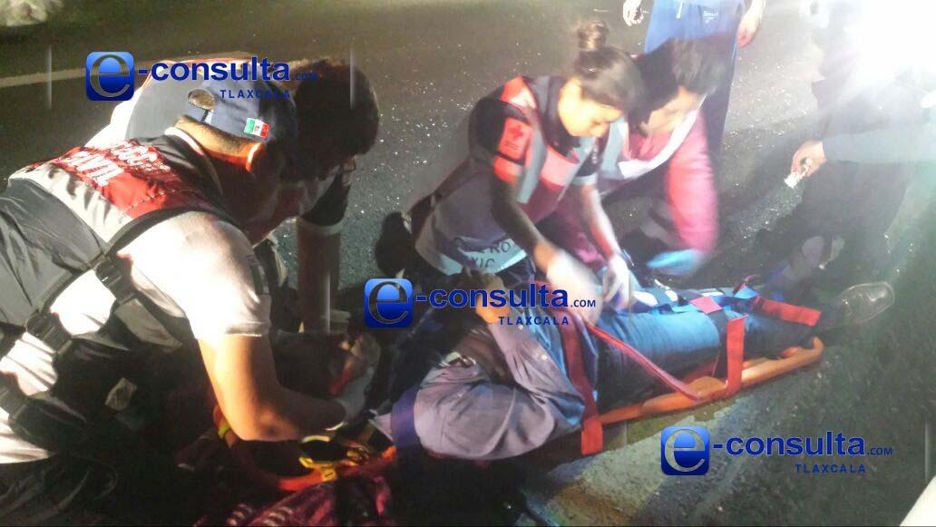Se accidenta coordinador de Lorena Cuéllar en Atlihuetzia