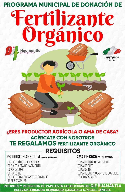 Invita Gobierno de Huamantla a adquirir abono orgánico gratuito y calentadores solares y tinacos tipo rotoplas subsidiados