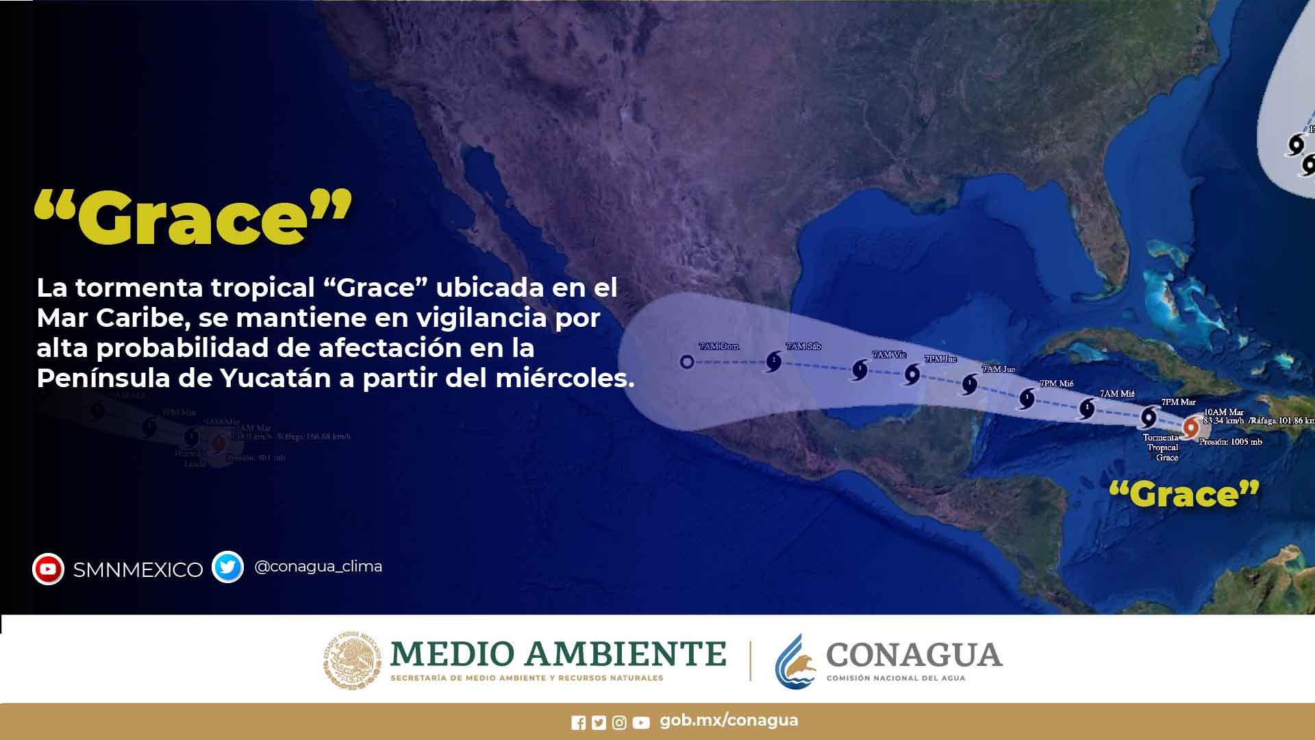 Emite Gobierno de México alerta por efectos del ciclón Grace