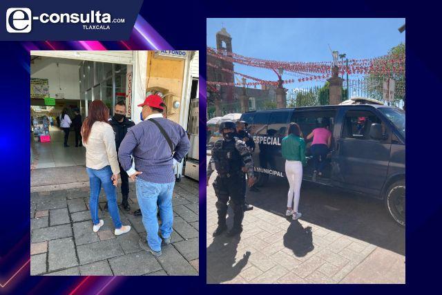 Policía de Zacatelco apoya a localizar a menor desaparecida