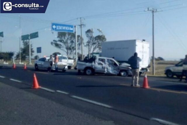 Aparatoso accidente deja varios lesionados en Nanacamilpa