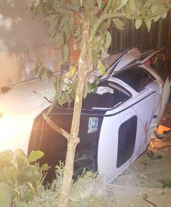 Parranda deja volcadura con 4 lesionados en Apizaco