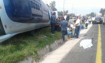 Conductor sin destreza ocasiona accidente con saldo de un muerto