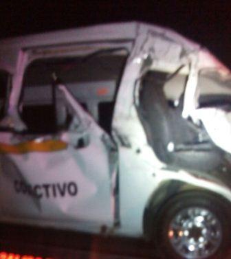 Un muerto y siete lesionados deja accidente en Apizaco
