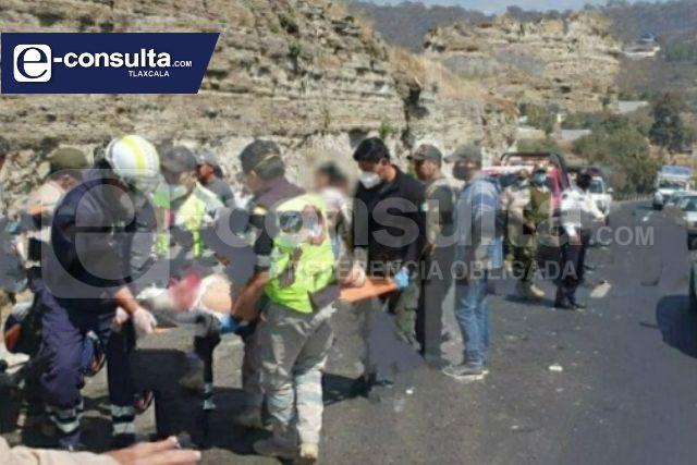 Se impacta en carretera Tlaxcala- Apizaco