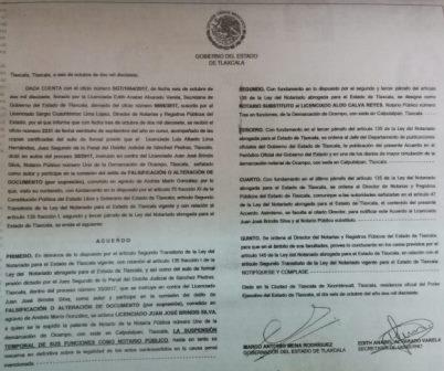 Por tiempo indefinido suspenden al notario Juan José Brindis