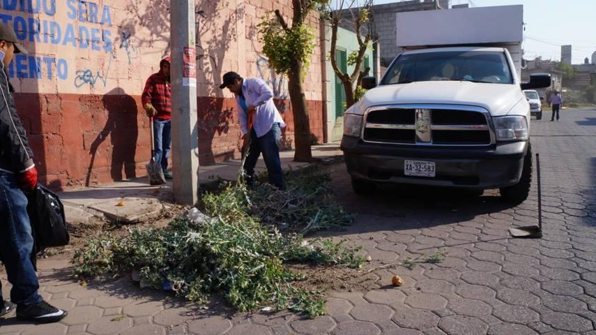 Realizan 9a Jornada de Limpieza en San Pablo del Monte
