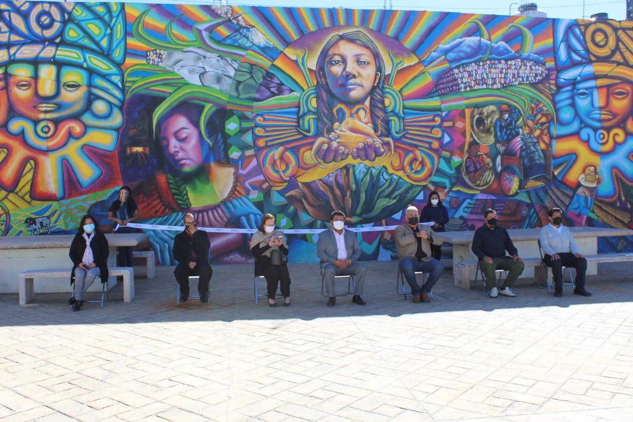 Inauguran en Tepetitla de Lardizábal mural artístico denominado Los Colores Del Pueblo