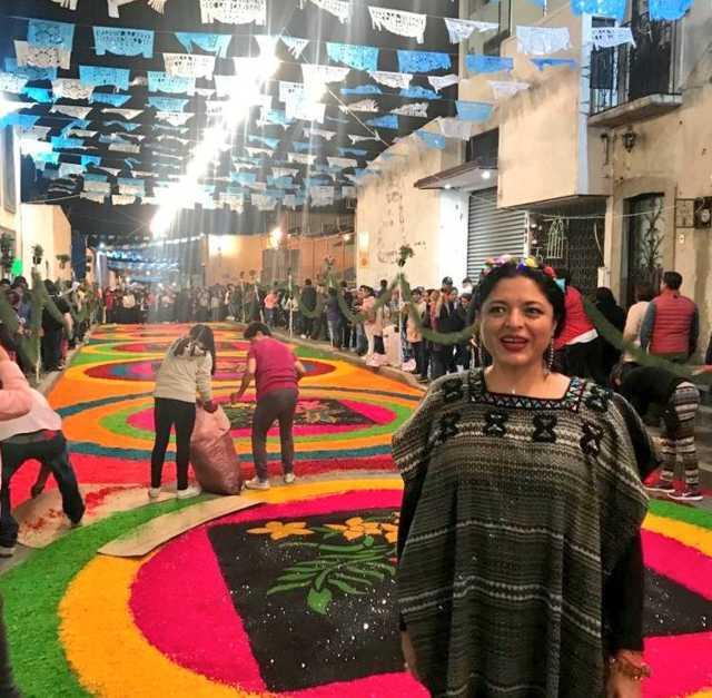 Visita Alejandra Frausto la Noche Que Nadie Duerme en Huamantla