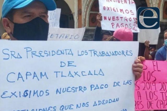 Trabajadores que se manifestaron en la Capam les retienen su pago