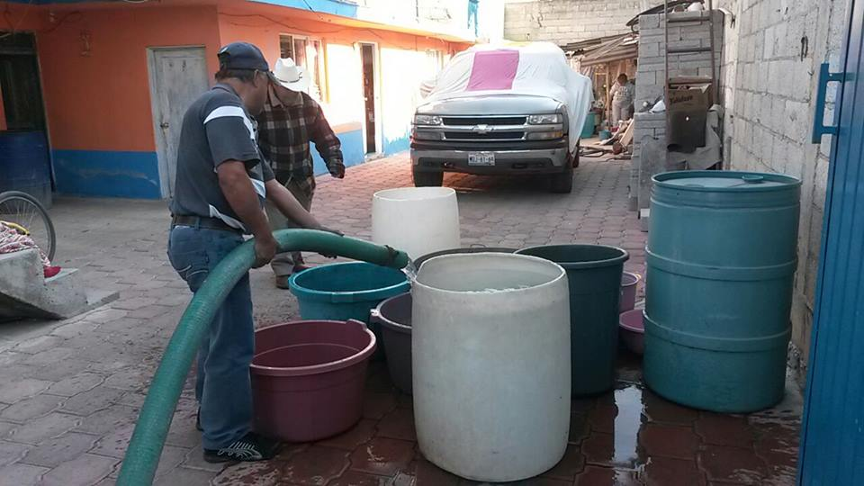 Politizan abasto de Agua Potable en San Antonio Mazapa