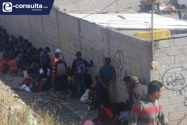 Nuevamente arriban más de cien migrantes a la ciudad de Apizaco
