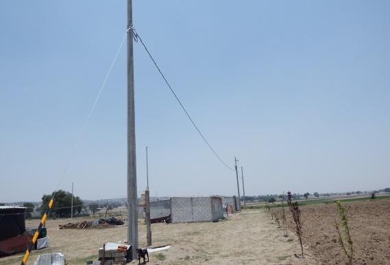 Concluyen trabajos de ampliación de red eléctrica en la colonia el valle