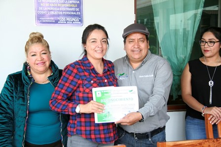 Alcalde de Amaxac reconoce el trabajo de la Conafor