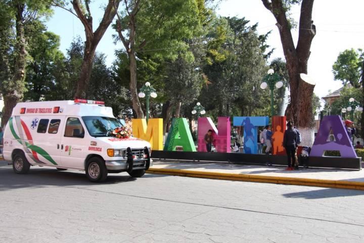 Con esta ambulancia fortalecemos la salud de los huamantlecos: alcalde