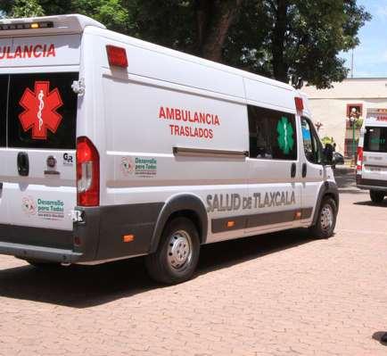 Ambulancia de lujo en Palacio de Gobierno y hospitales no tienen