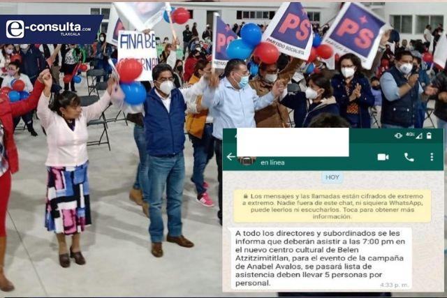 Alcalde amoroso viola la ley y presta centro cultural de Belén para un acto político