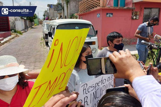 Simpatizantes de Ana Lilia Rivera de SPM se manifiestan; piden candidatura
