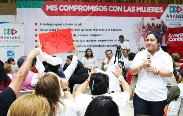 Respaldan cientos de mujeres aspiraciones de Anabel Alvarado