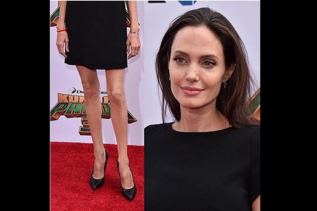 Impacta Angelina Jolie por lo delgado de sus piernas