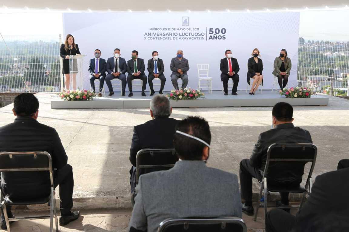 Conmemoran 500 aniversario luctuoso de Xicohténcatl Axayacatzin en Tizatlán