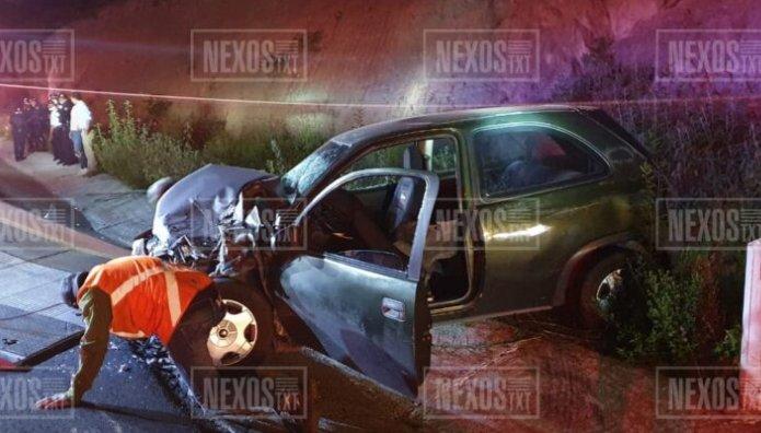 Un policía y una mujer lesionados, deja accidente sobre la autopista Tlaxcala-Puebla