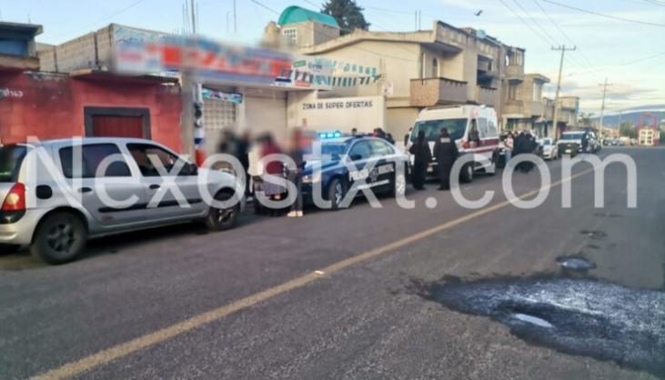 Sujetos armados balean a empleado de tienda de abarrotes en Contla