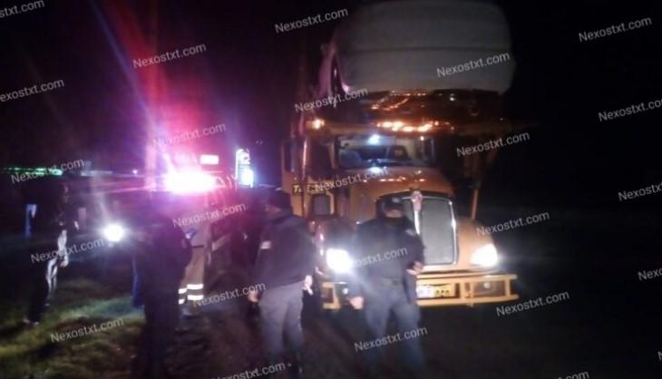 Sujetos armados roban nodriza con 10 vehículos de lujo en Hueyotlipan: en operativo policías lo recuperan