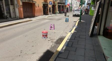 Sancionarán en Chiautempan el apartado de lugar en la calles