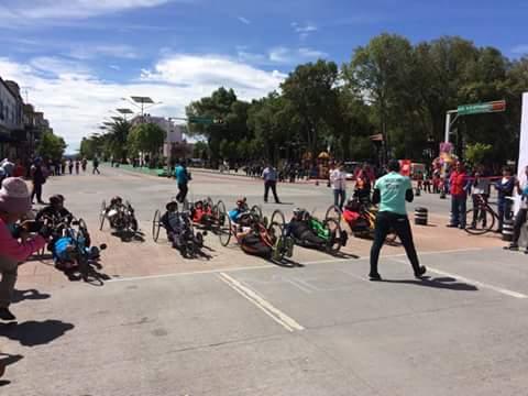Realizan quinta carrera de paraciclismo en Apizaco