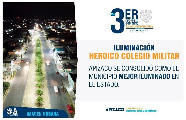 Apizaco se consolidó como el municipio con mejor alumbrado público