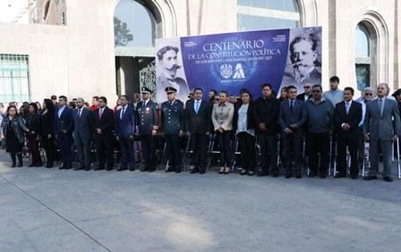 Conmemoran en Apizco Centenario de la Constitución